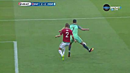 Голът на Кристиано Роналдо срещу Унгария