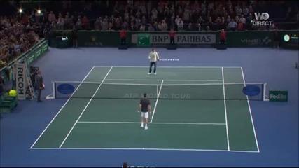 Ибрахимович игра тенис с Джокович