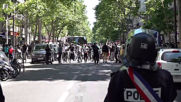 France: Police clear unauthorized Paris protest in support of refugees