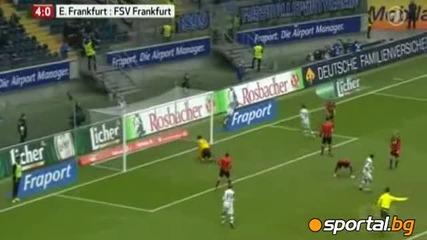 Мицански с гол срещу Айнтрахт Франкфурт