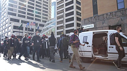 USA: Silent march for George Floyd held in Minneapolis ahead of police officer trial