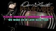 Demi Lovato - Remember December [karaoke/instrumental]