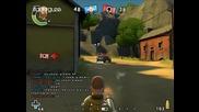Най - Яката Онлайн Игра Battlefield Heroes - Gunner Gameplay ( Високо Качество )