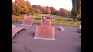 Backflip on rollerblades