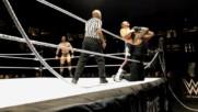 Top rope breaks during Seth Rollins & Roman Reigns vs. Dolph Ziggler & Drew McIntyre