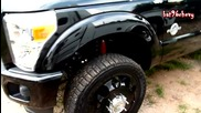 All Black 2011 Ford F-350 Dually Power Stroke Truck on 24`s - Hd