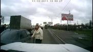 Рускиня срещу Range Rover