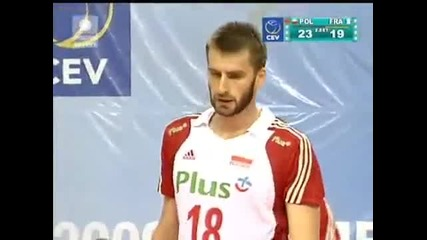 Poland vs. France - Set 2! (turkey Evc 2009 Final)