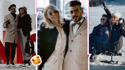 Venci Venc' намери любовта в красива блондинка! Двамата се позабавляваха на ски ваканция във Франция
