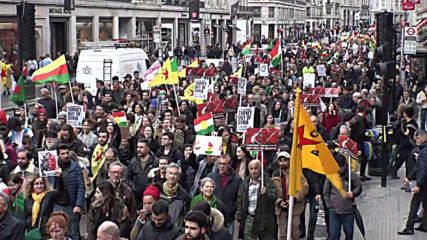 UK: London march condemns Turkey's military operation in Syria