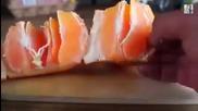 Как да с разрежем най-бързо и лесно портокал