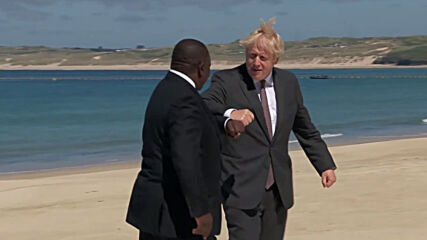 UK: Johnson greets UN's Guterres and invited world leaders on day 2 of G7 summit