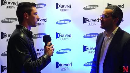 Първият в света Curved UHD телевизор от Samsung вече и в България