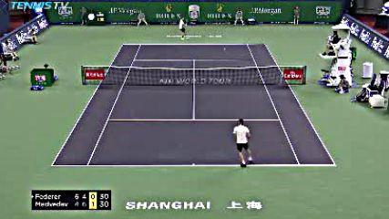 Atp 2018 Shanghai Rolex Masters - 2nd Round - Roger Federer vs Daniil Medvedev