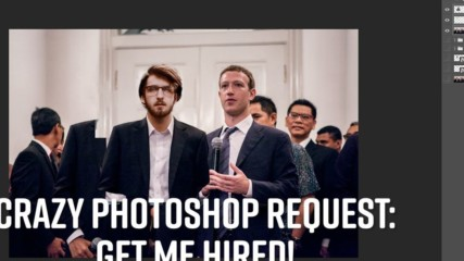 Photoshop Timelapse: Get my Linked In pic noticed