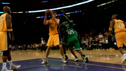 Nba Celtics - Lakers - Game 1 - Kobe blocks Allen - Finals 2010