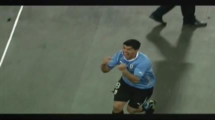 2.07.2010 Уругвай - Гана 1 - 1 (5 - 3 след дузпи) 1/4 Ф И Н А Л