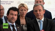 Russia: Time for Europe to abandon sanctions against Russia - French MPs in Crimea