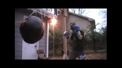 Boxing training - wrecking ball heavy bag