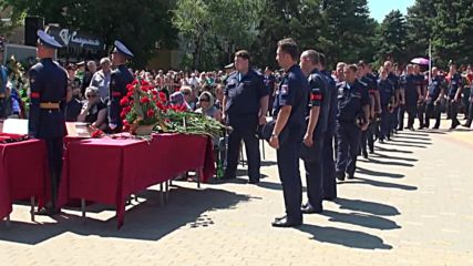 Russia: Farewell ceremony honours pilot killed in action in Syria