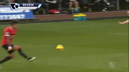 Суонси Сити-Манчестър Юнайтед 2:1, 26-и кръг, Висша лига