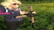 Girl Shooting fail