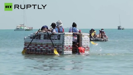 Beer Boats Battle to be the Best at Darwin's Beer Can Regatta