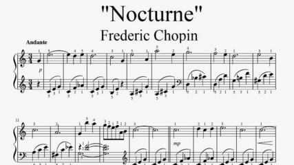 """Frederic Chopin - Nocturne"" - Piano sheet music (by Tatiana Hyusein)"