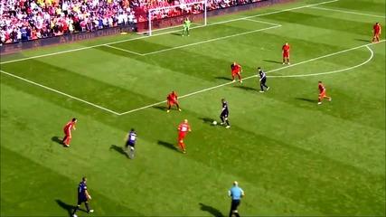 Liverpool Vs Arsenal (0-2) гол на Santi Cazorla