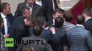 Ukraine: MP on crutches involved in scuffle in the Verkhovna Rada