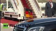 Русия: Меркел пристига в Москва по случай деня на Победата и разговаря с Путин