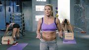 Anja Garcia - 12. Gymnastics Strength 2. Black Fire. Daily Burn.