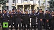 Ukraine: Odessa Right Sector arrests spark tyre-burning demo