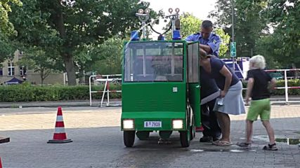 Germany: Start 'em young! Police Open Day shows off water cannon for kids