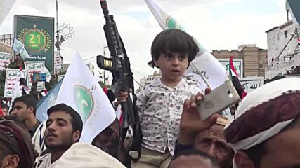 Yemen: Thousands gather to commemorate 7th anniv of 'September 21 Revolution' in Sana'a