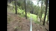 возене на алпийски влак за спъскане