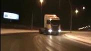 Дрифт с камион
