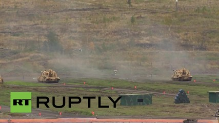 Russia: T-90s and Msta-S howitzers unleash their firepower at RAE-2015