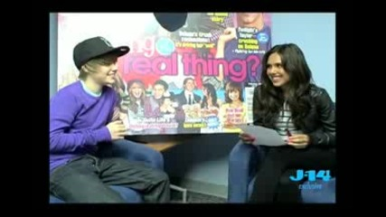 Kristinia Debarge Interviews Justin Bieber