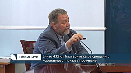 Близо 43% от българите са се срещали с коронавирус, показва проучване