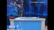 Гръцки репортер, замерван с яица и мляко