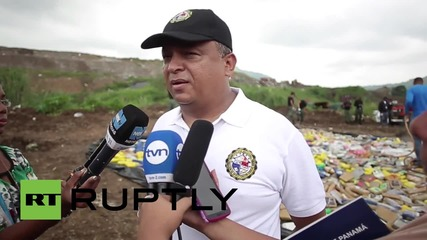 Panama: Watch as six tonnes of seized cocaine goes up in smoke