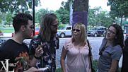 голям смях с Джо и групата му Dnce ходейки из улиците на Орландо и питайки ги въпроси!