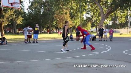 Спайдърмен и баскетбол?