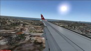 Fsx B737 landing at Lisabon
