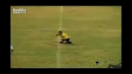 Нападение от пчели по време на футболен мач