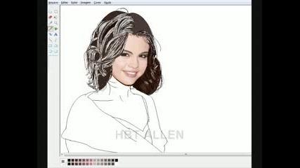 Как да нарисуваме Селена Гомез с Paint ;)