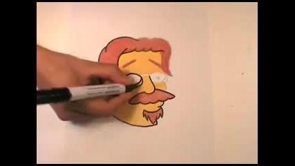 Рисуване на Мат Грьонинг