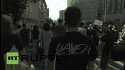 Учители и студенти протестират против правителството в Македония