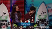 Taylor Lautner and Megan Fox Win Choice Hotties - 2010 Teen Choice Awards